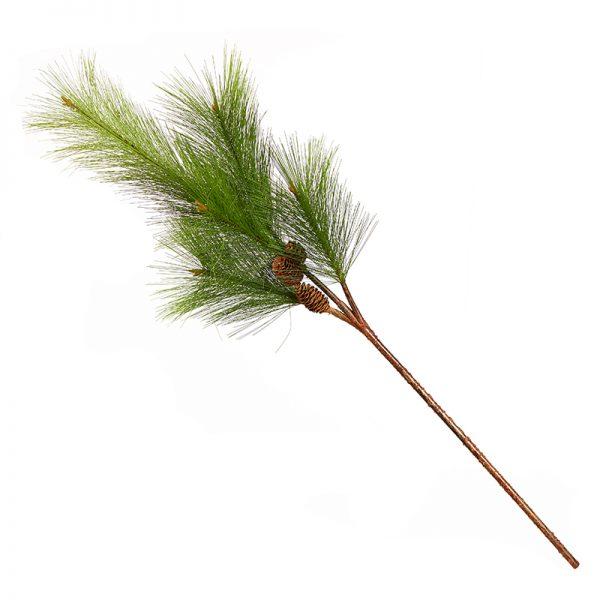 Декоративен стрък елхова клонка,106см