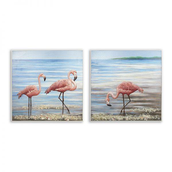 Картина фламинго сет, 80*80