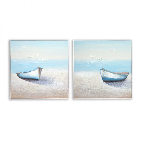 Картина лодка сет, 80*80