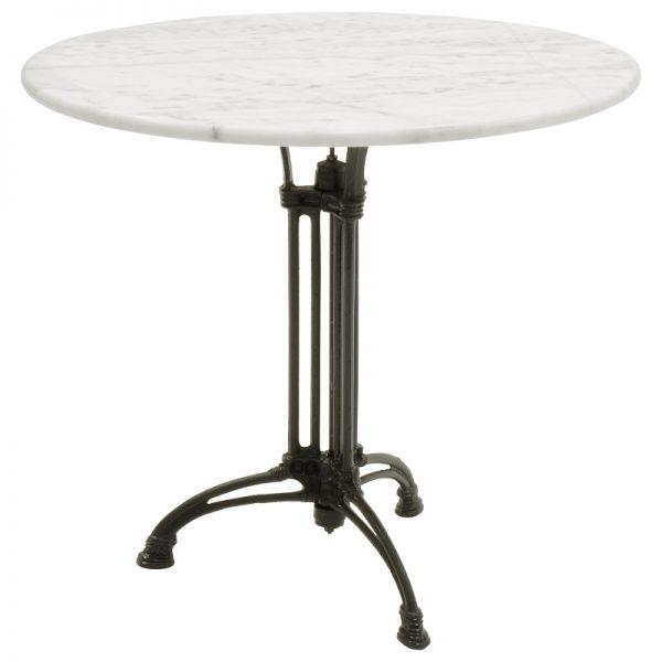 Градинска маса с мраморен плот, 80*73см