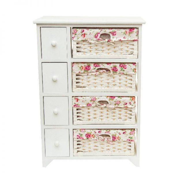 Олекотено бяло шкафче, 52*30*73.5см