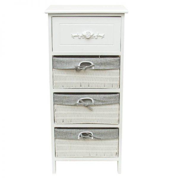 Олекотено шкафче с 4 чекмеджета, 40*30*88см