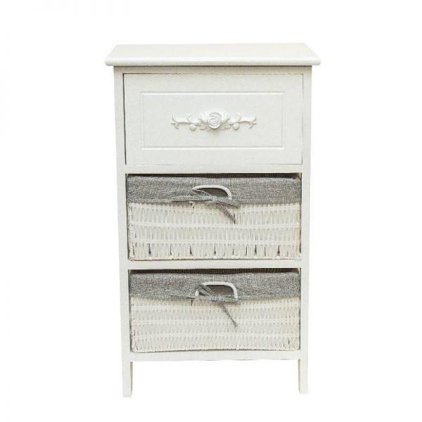Олекотено шкафче с 3 чекмеджета, 40*30*68см