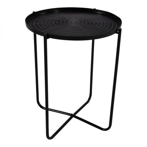 Помощна маса с черен плот, 40.5*50см