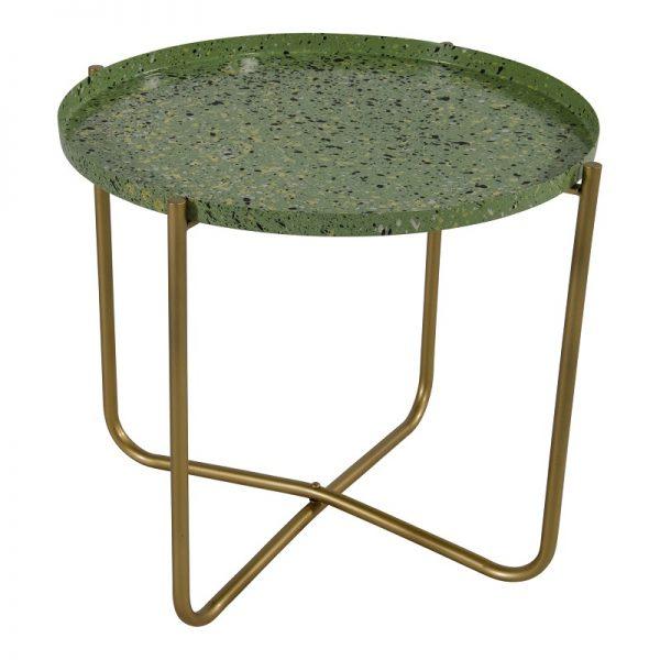 Помощна маса с зелен плот, 40,5*35см