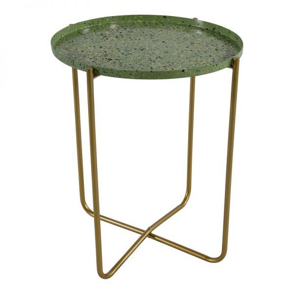 Помощна маса с зелен плот, 40.5*50см
