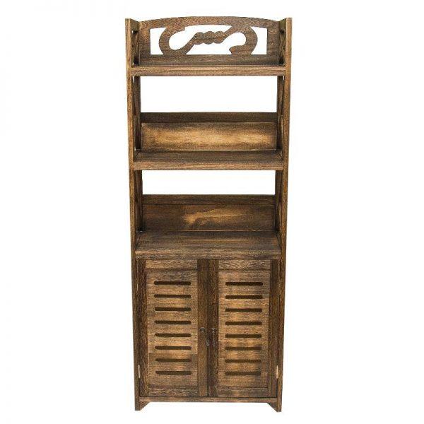 Шкаф от дърво в кафяв цвят, 46*25*118см
