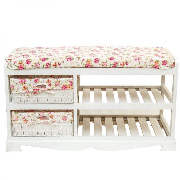 Шкаф за обувки- пейка в бял цвят, 80*34*45см