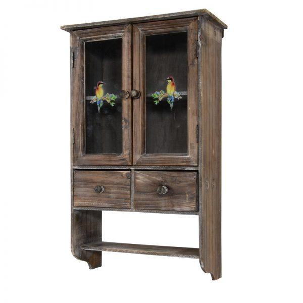 Дървен шкаф за стена Авем, 36*16*60см