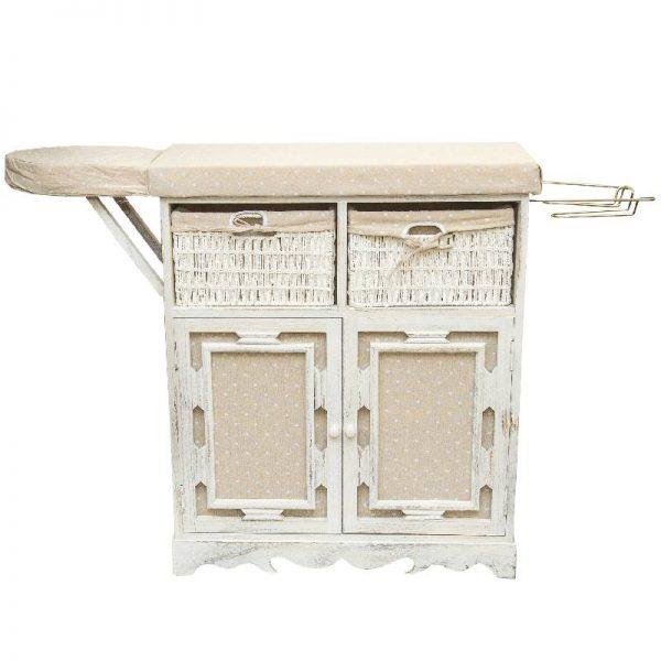 Шкаф с дъска за гладене, бял 77*31*83 /103см