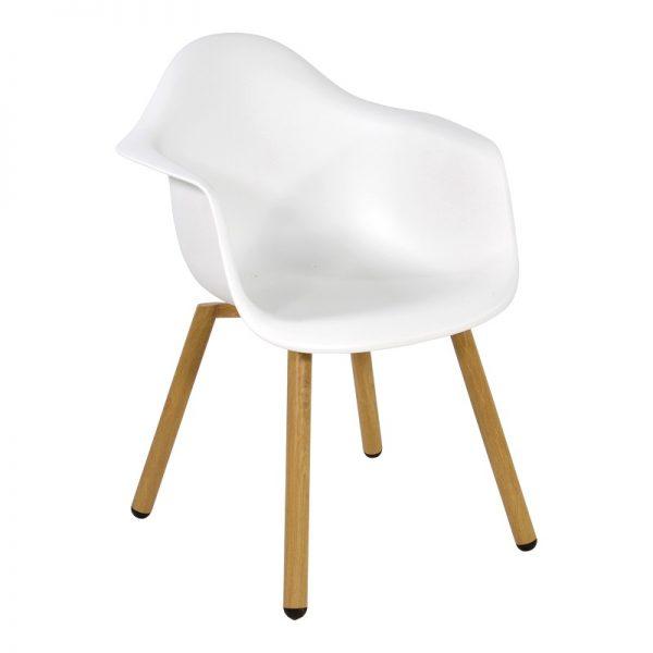 Градиснки стол Монтрьо в бял цят