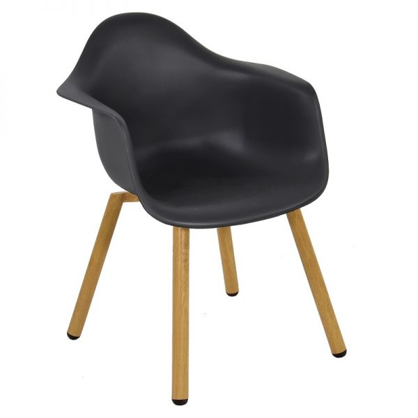 Градиснки стол Монтрьо в черен цвят