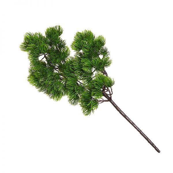 Изкуствени цветя - Декоративен стрък зелена клонка, 40см