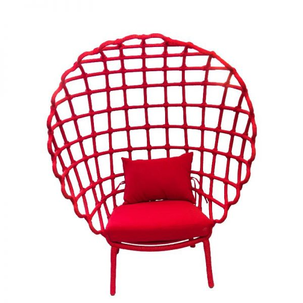 Дизайнерски плетен стол