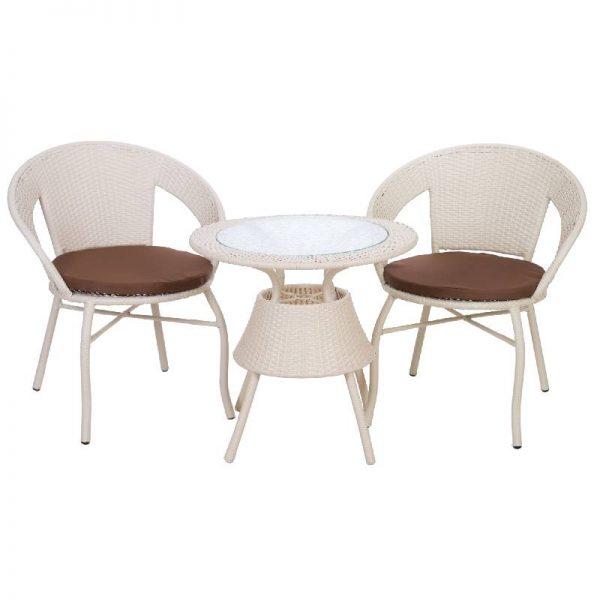 Ратанов комплект - маса с два стола