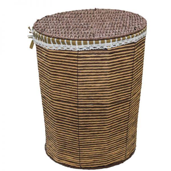 Плетен кош от ратан с капак, 34x25x41см