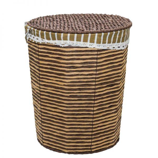 Плетен кош от ратан с капак, 39*31*48см