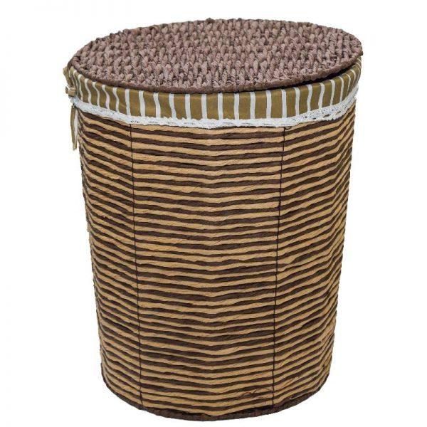 Плетен кош от ратан с капак, 45*35*54см
