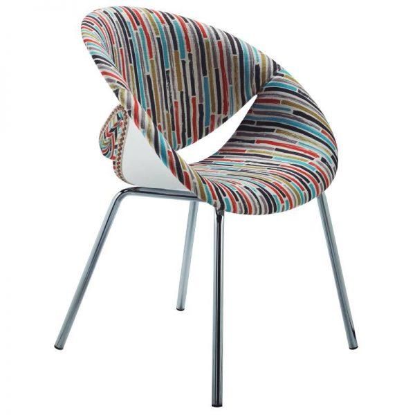 Стол с цветен десен, 62*54*43H*80H