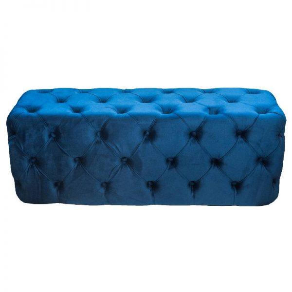 Табуретка плюш - синя , 110*38*42см