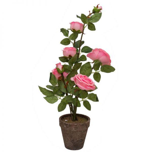 Изкуствена роза в кашпа