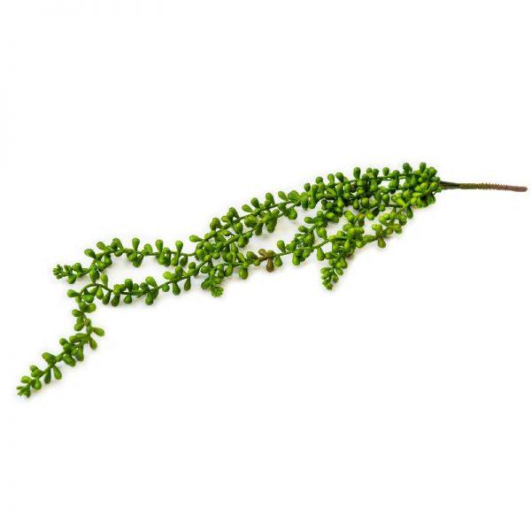 Изкуствена зелена клонка с пъпчести листа