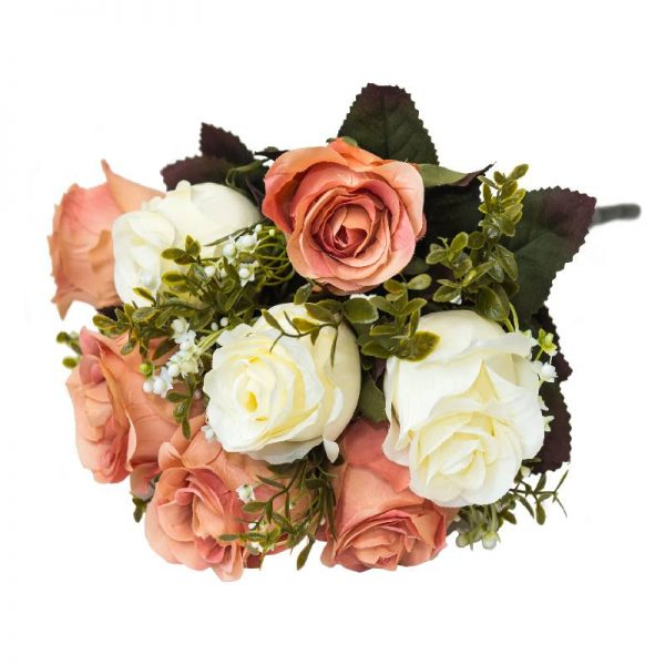 Декоративен букет Рози, 7 цвята