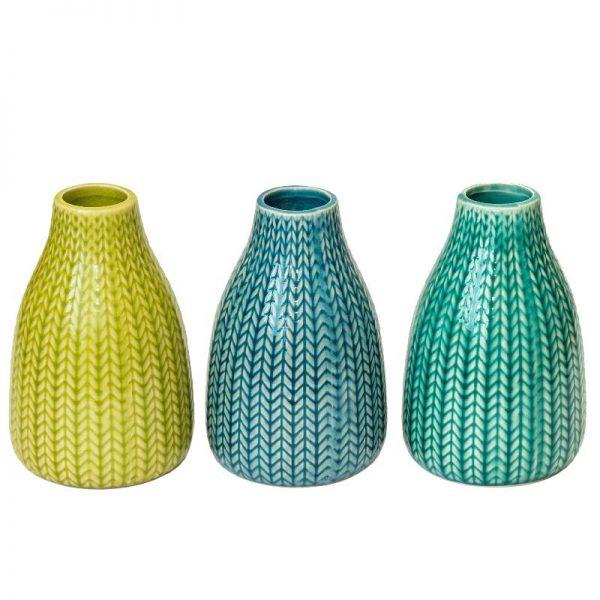 Декоративни вази в 3 цвята, 14см