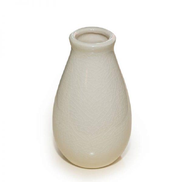 Елегантна ваза, бяла керамика, 8*12 см