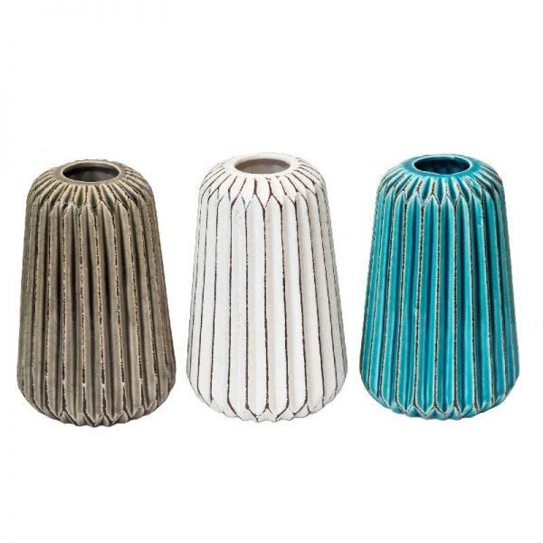 Интериорна керамична ваза, 17 см