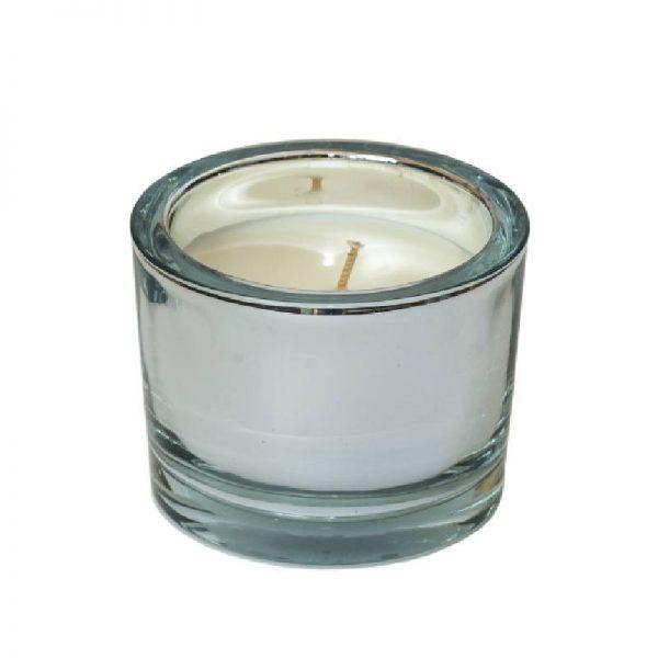 Ароматна свещ в цвят злато или сребро