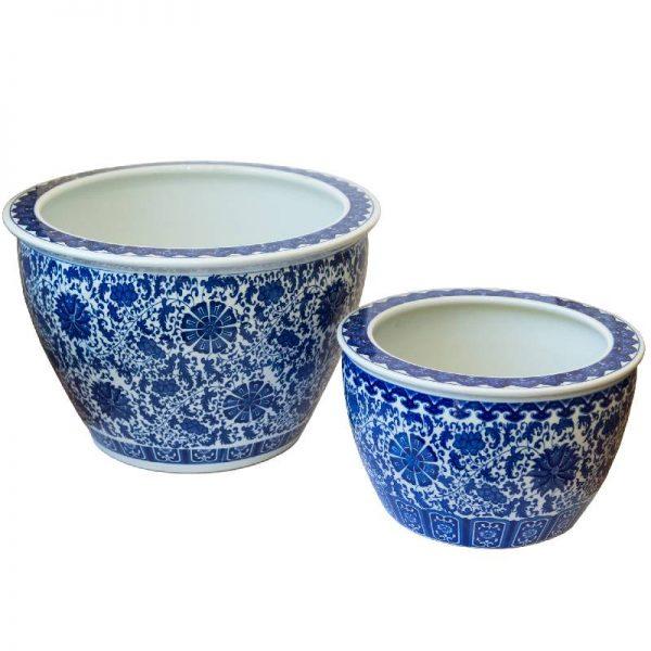 Керамична кашпа за декорация, 2 размера