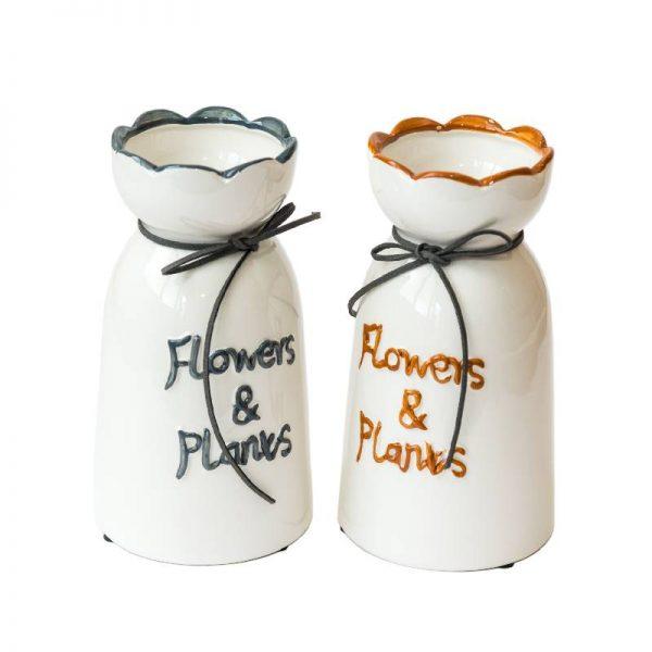 Керамична ваза Flowers & Plants, 2 цвята