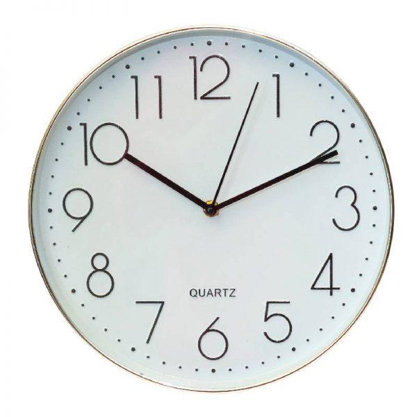 Класически кръгъл стенен часовник, 2 цвята
