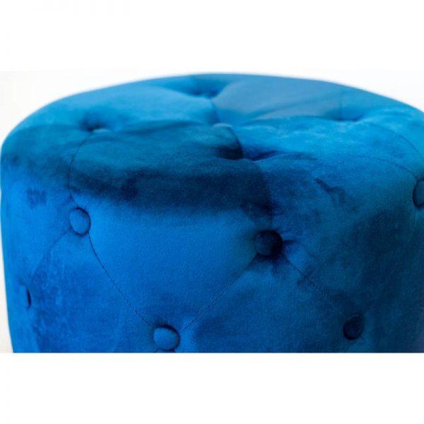 Кръгла табуретка в син цвят