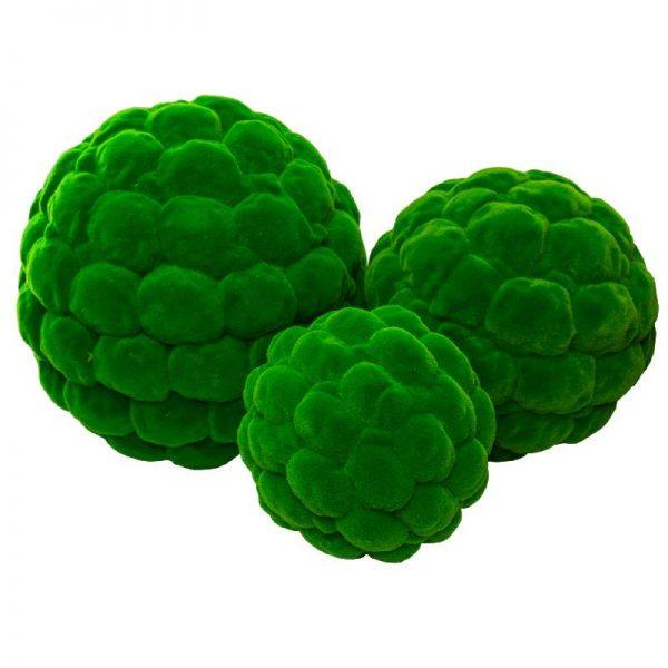 Мъхести зелени топки, 4 размера