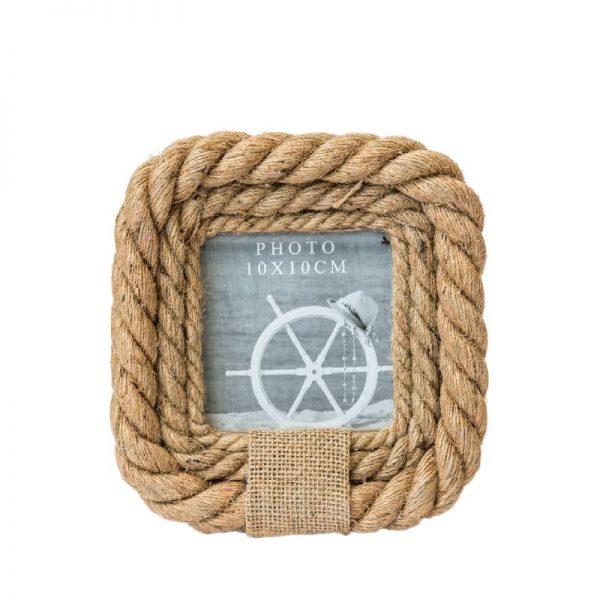 Рамка за снимки от конопено въже