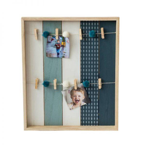 Рамка за снимки с въженца и декоративни щипки