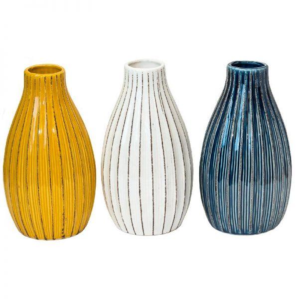 Вази за декорация в 3 цвята, 23см
