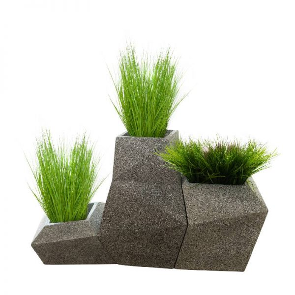 Геометрични каменни кашпи в 3 размера