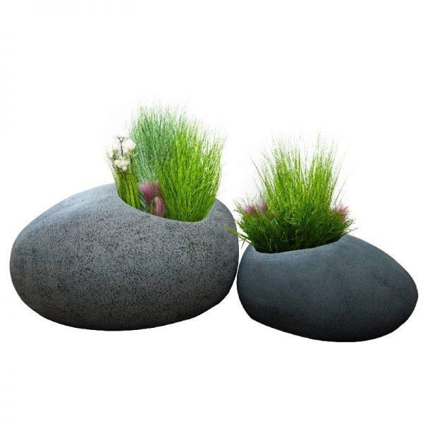 Кашпи имитиращи камък, 2 размера