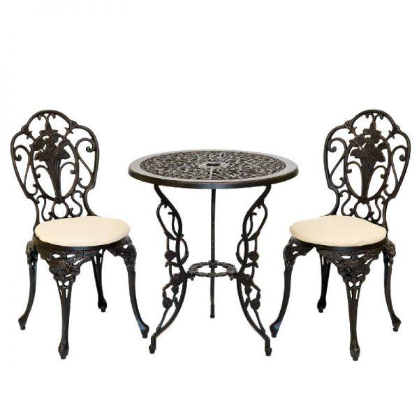 Градински комплект - маса с 2 стола
