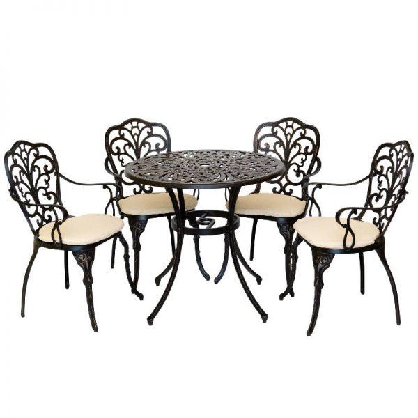 Градински комплект - маса с 4 стола