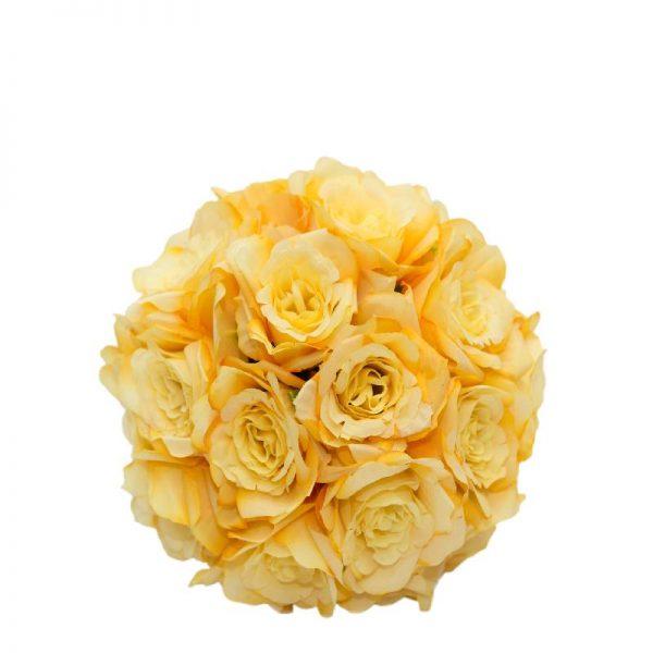 Изкуствена топка от рози, 3 цвята