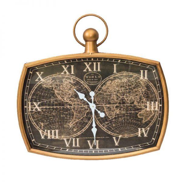 Метален стенен часовник, 47*7*67 см
