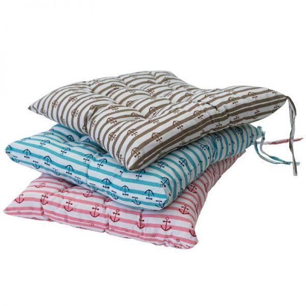 Възглавница за стол с котвичка, 3 цвята