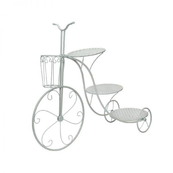 Цветарник велосипед, с 3 поставки за цветя, 87*30*70