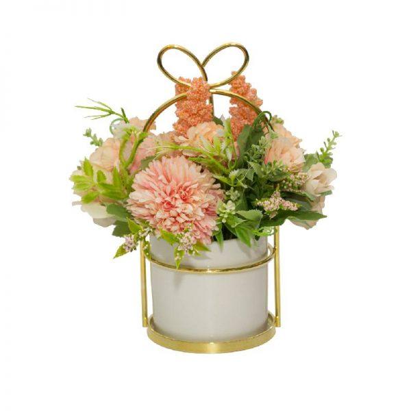 Цветен букет изкуствени цветя - аранжировка, 2 цвята