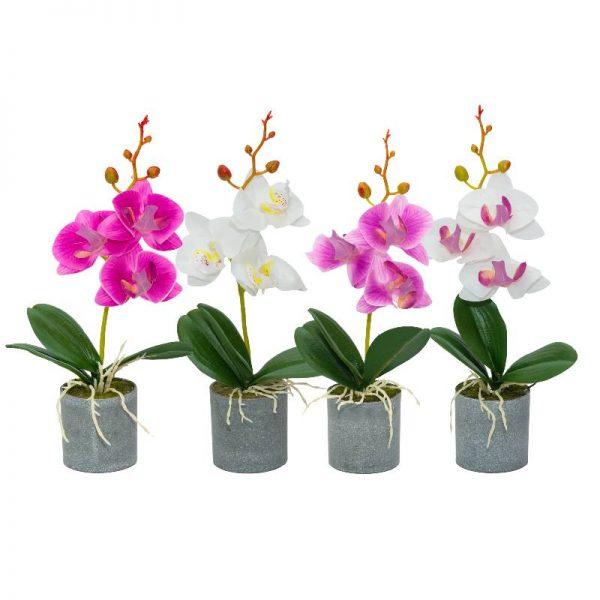 Изкуствена мини орхидея, 4 десена
