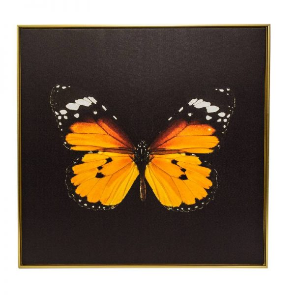 Картина жълта пеперуда, 80*80 см